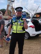 Even the local Policeman gets in the spirit of the show!